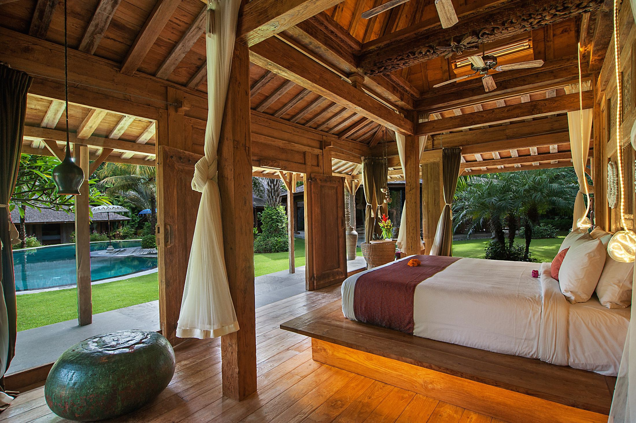 Bedroom view - Villa Kalua, Kerobokan Bali