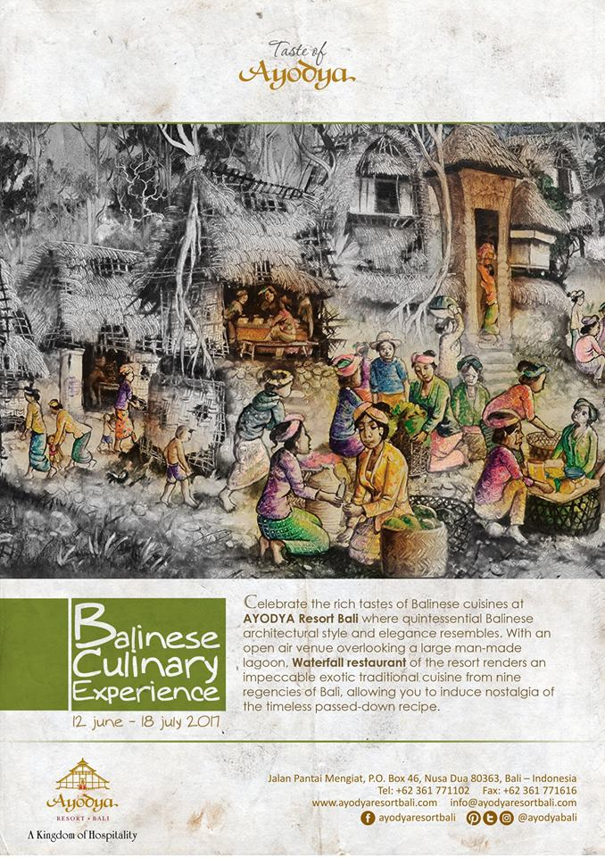 Balinese Culinary Experience at The Ayodya Resort Bali
